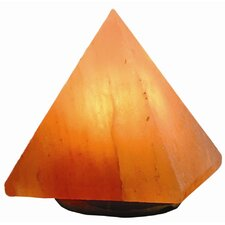 "Himalayan Salt Pyramid 7"" H Table Lamp with Square Shade"