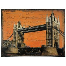 "<strong>Oriental Furniture</strong> London Bridge Canvas Wall Art - 31.5"" x 23.5"""