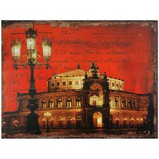 German Opera House Graphic Art on Canvas