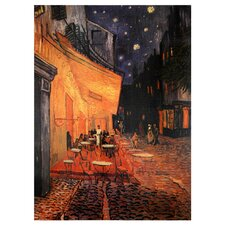 'Cafe Terrace on the Place Du Forum' by Vincent Van Gogh Painting Print on Canvas
