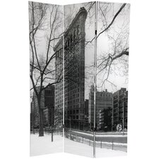 "71"" x 47.63"" New York City 3 Panel Room Divider"