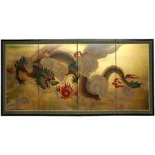 Dragon in The Sky 4 Panel Room Divider