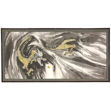 "24"" x 48"" Dragons In The Clouds 4 Panel Room Divider"