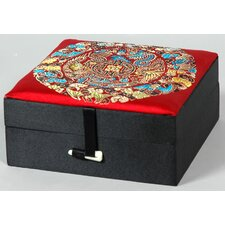 Silk Good Jewelry Box in Black and Red