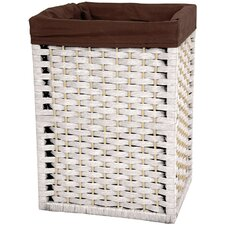 "<strong>Oriental Furniture</strong> 17"" Natural Fiber Basket in White"