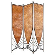 "72"" x 52.5"" Tropical Philippine 3 Panel Room Divider"
