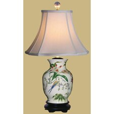 <strong>Oriental Furniture</strong> Porcelain Tulip Vase Table Lamp