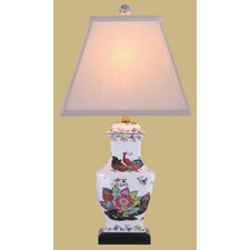<strong>Oriental Furniture</strong> Porcelain Tobacco Vase Table Lamp