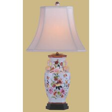 <strong>Oriental Furniture</strong> Porcelain Pomegranate Vase Table Lamp