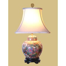 Rose Medallion Jar Table Lamp