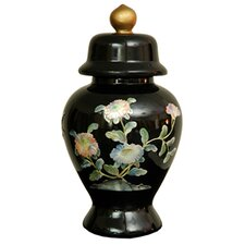 Birds and Flowers Temple Decorative Urn
