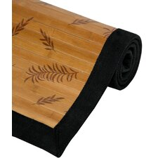 <strong>Oriental Furniture</strong> Little Leaf Bamboo Rug