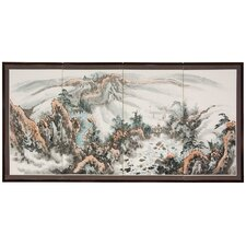 "36"" x 72"" Landscape Mountaintop 4 Panel Room Divider"