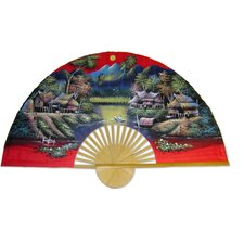<strong>Oriental Furniture</strong> Spring Harvest Fan Wall Décor