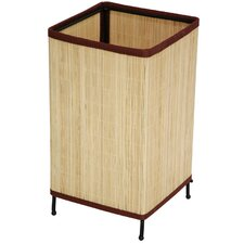 """Shika Japanese Rattan 11.75"""" H Table Lamp with Square Shade"""
