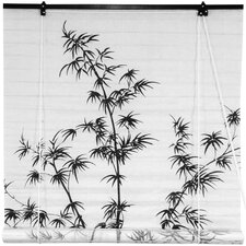 <strong>Oriental Furniture</strong> Bamboo Tree Shoji Rice Paper Roller Blind