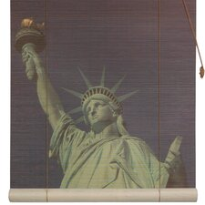 <strong>Oriental Furniture</strong> Statue of Liberty Rayon Roller Blind