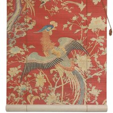 <strong>Oriental Furniture</strong> Red Phoenix Rayon Roller Blind