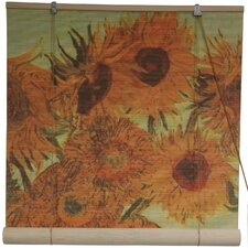 <strong>Oriental Furniture</strong> Sunflowers Rayon Roller Blind
