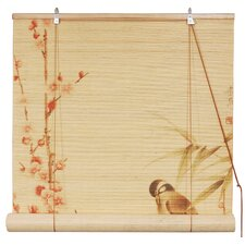 <strong>Oriental Furniture</strong> Love Birds Rayon Roller Blind