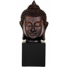 "10"" Thai Buddha Head Statue in Faux Bronze Patina"