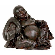 <strong>Oriental Furniture</strong> Sitting Happy Buddha Figurine