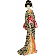 <strong>Oriental Furniture</strong> Geisha With Lavender Floral Sash Figurine