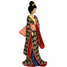 <strong>Oriental Furniture</strong> Geisha with Pastel Sash Figurine