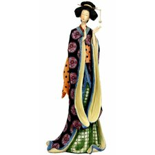<strong>Oriental Furniture</strong> Geisha with Pale Gold Sash Figurine