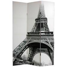"70.88"" x 47.25"" Eiffel Tower 3 Panel Room Divider"