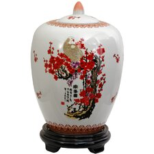 <strong>Oriental Furniture</strong> Cherry Blossom Decorative Jar