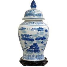 Landscape Temple Decorative Urn