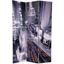 """70.88"""" x 47"""" New York State of Mind 3 Panel Room Divider"""