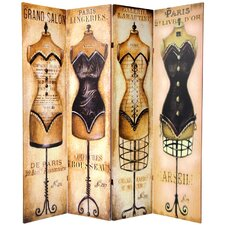 Double Sided Mannequin and Singer Canvas 4 Panel Room Divider