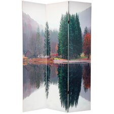 "70.88"" x 47"" Double Sided Trees 3 Panel Room Divider"