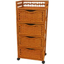 Natural Fiber 4 Drawer Chest