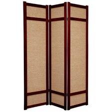 "71"" x 42"" Jute Shoji 3 Panel Room Divider"