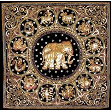<strong>Oriental Furniture</strong> Burmese Elephant Horoscope Tapestry