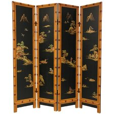 """72"""" x 64"""" Ching 4 Panel Room Divider"""