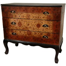 <strong>Oriental Furniture</strong> Olde-Worlde Euro Three Drawer Console Table