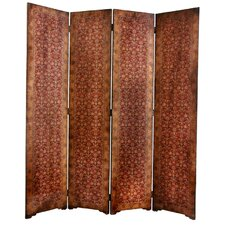 "<strong>Oriental Furniture</strong> 72"" x 63"" Olde-Worlde Rococo 4 Panel Room Divider"