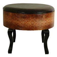 <strong>Oriental Furniture</strong> Olde-Worlde Vintage Ottoman