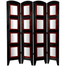 "67"" x 49"" Photo Display Shoji 4 Panel Room Divider"