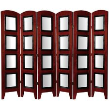 "67"" x 74"" Photo Display Shoji 6 Panel Room Divider"