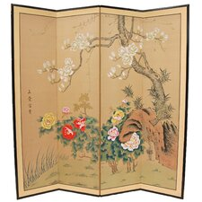 "<strong>Oriental Furniture</strong> 24"" x 48"" Harmony 4 Panel Room Divider"