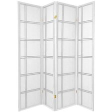 "70"" x 56"" Double Cross Shoji 4 Panel Room Divider"