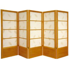 "<strong>Oriental Furniture</strong> 48"" x 72"" Botanic Shoji 5 Panel Room Divider"