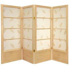 """48"""" x 57"""" Botanic Shoji 4 Panel Room Divider"""