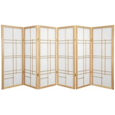 "<strong>Oriental Furniture</strong> 48"" x 86"" Eudes Shoji 6 Panel Room Divider"