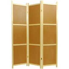 "<strong>Oriental Furniture</strong> 72"" x 42"" Cork Board 3 Panel Room Divider"